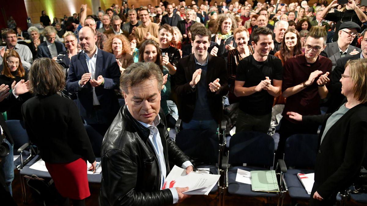 Bundessprecher Werner Kogler beim Bundeskongress der Grünen mit Entscheidung über Koalitionsabkommen mit der ÖVP.