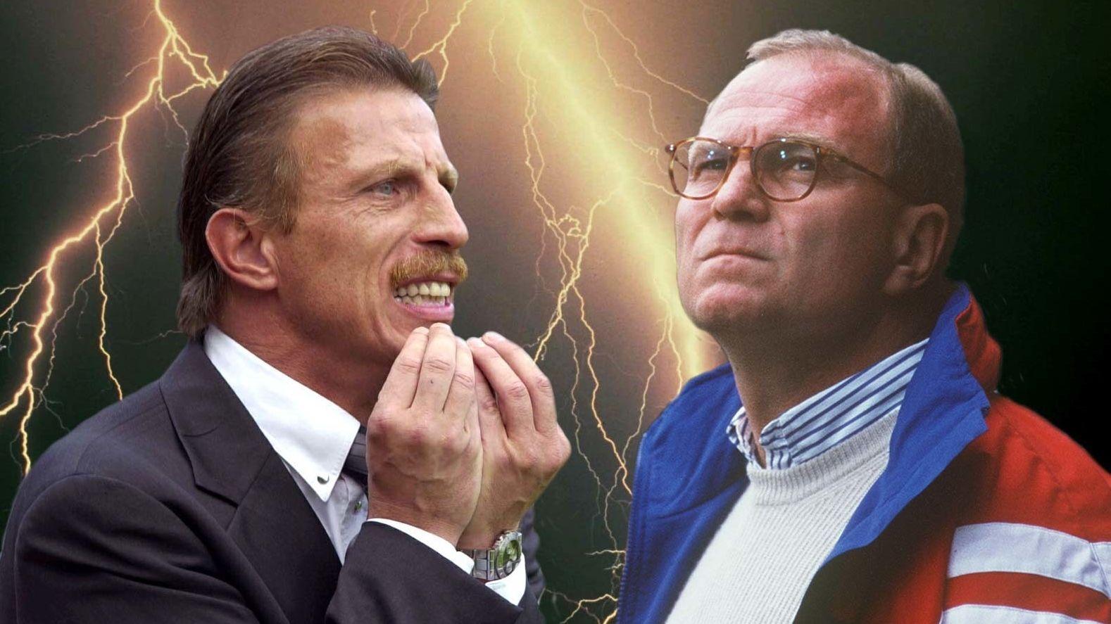 Zwei, bei denen es krachte: Christoph Daum (l.) und Uli Hoeneß.