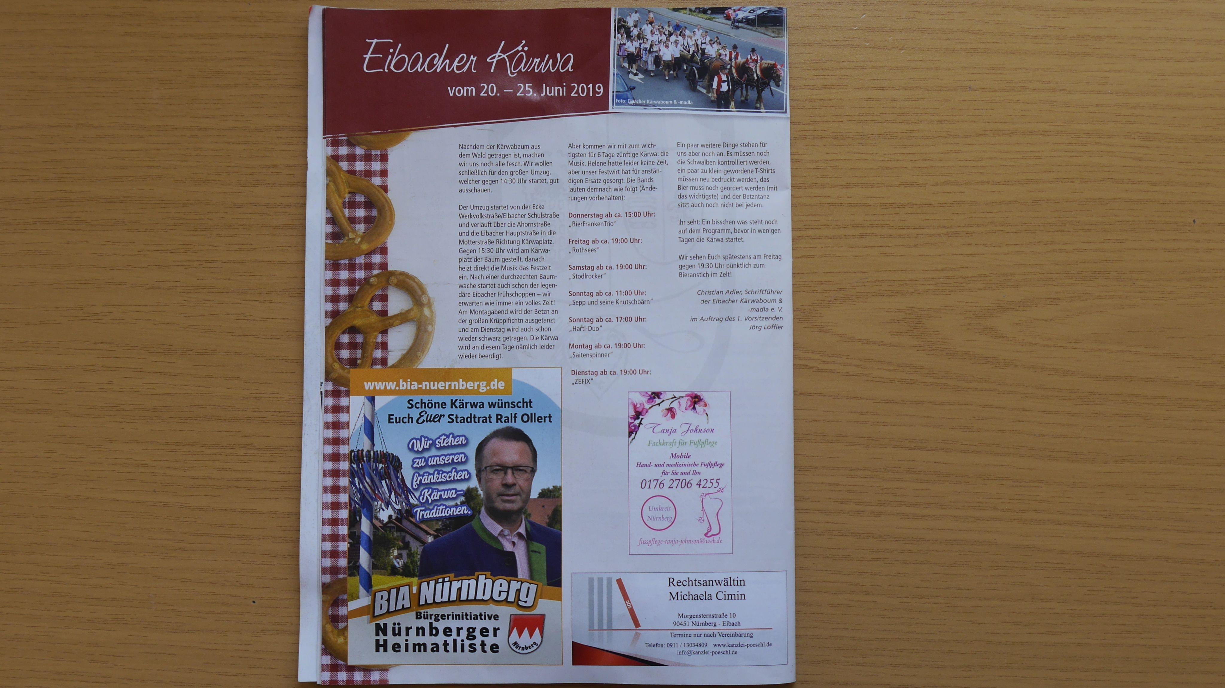 Eibacher Mitteilungsblatt