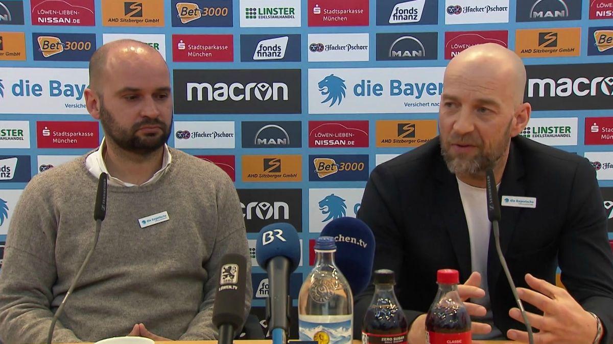 Günther Gorenzel und Michael Scharold in der Pressekonferenz am Dienstag