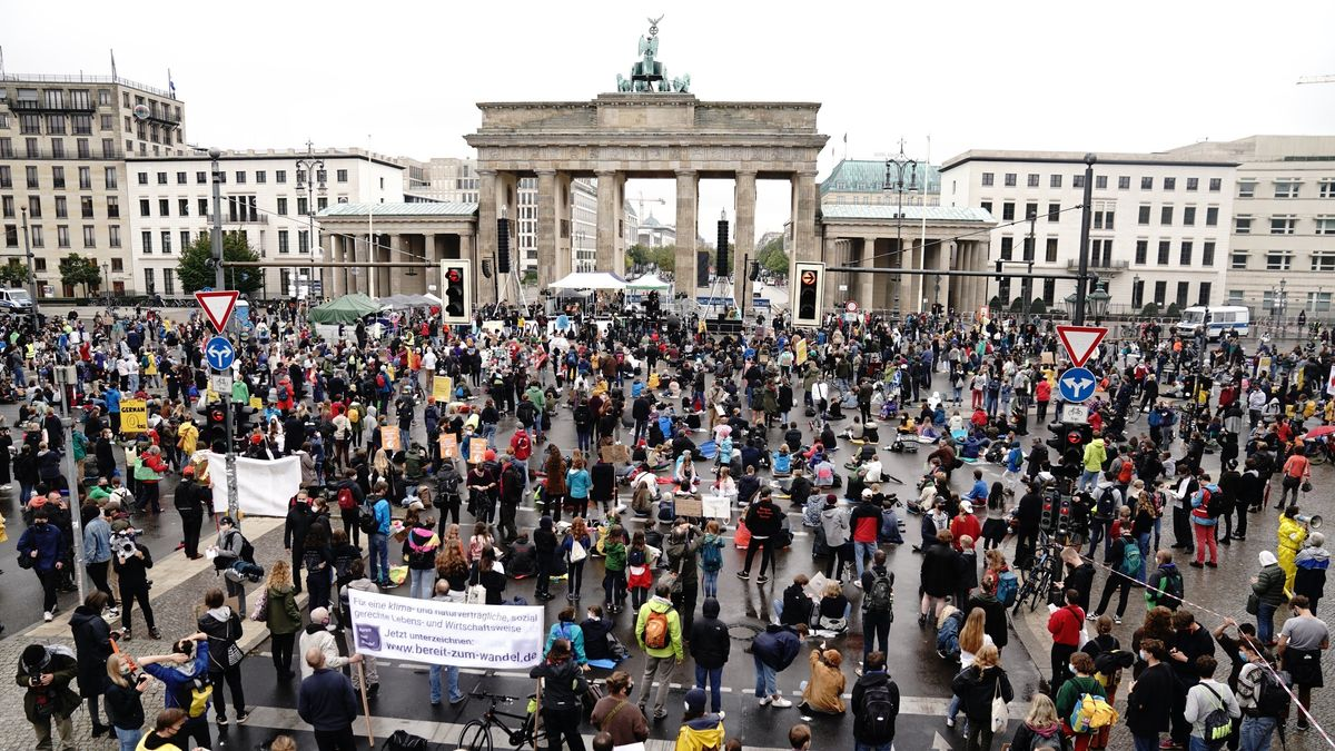 Fridays-for-Future-Demonstranten am 25.9.20 in Berlin