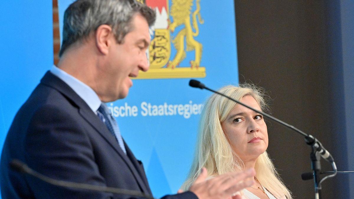 Ministerpräsident Söder und Gesundheitsministerin Huml