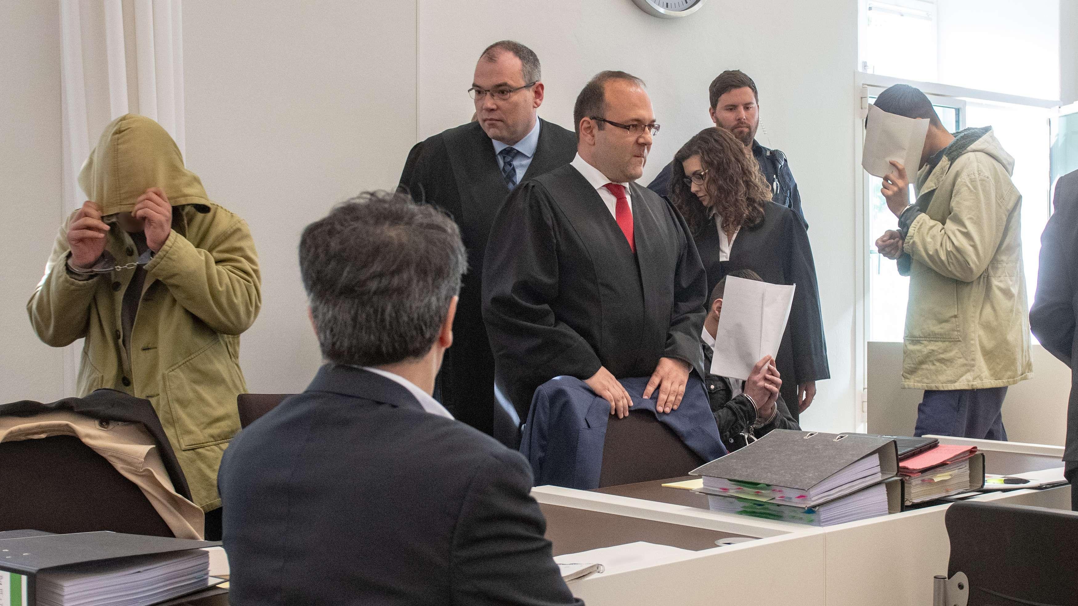 Angeklagte Asylbewerber im Amberger Amtsgericht