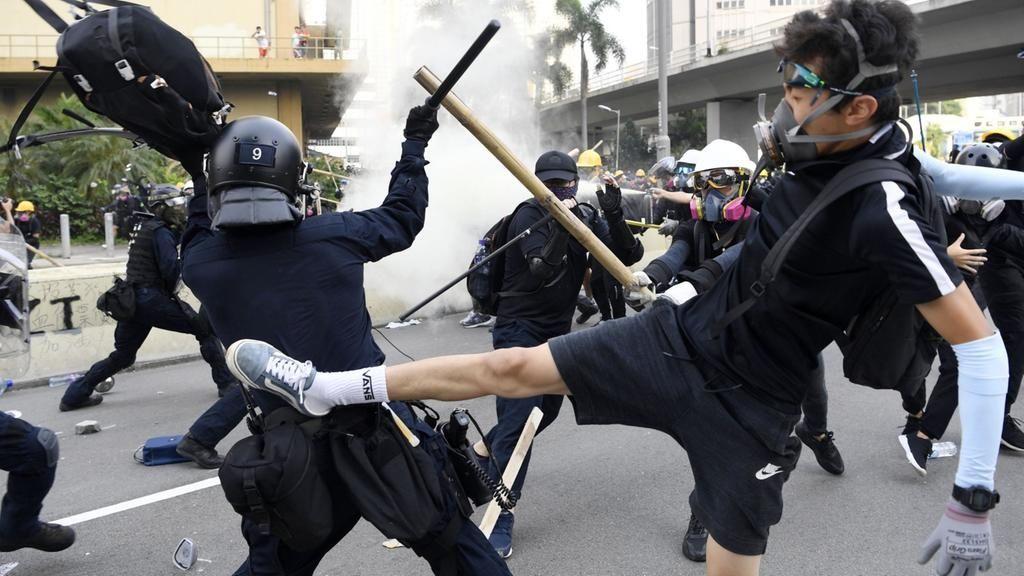 Gewalt in Hongkong