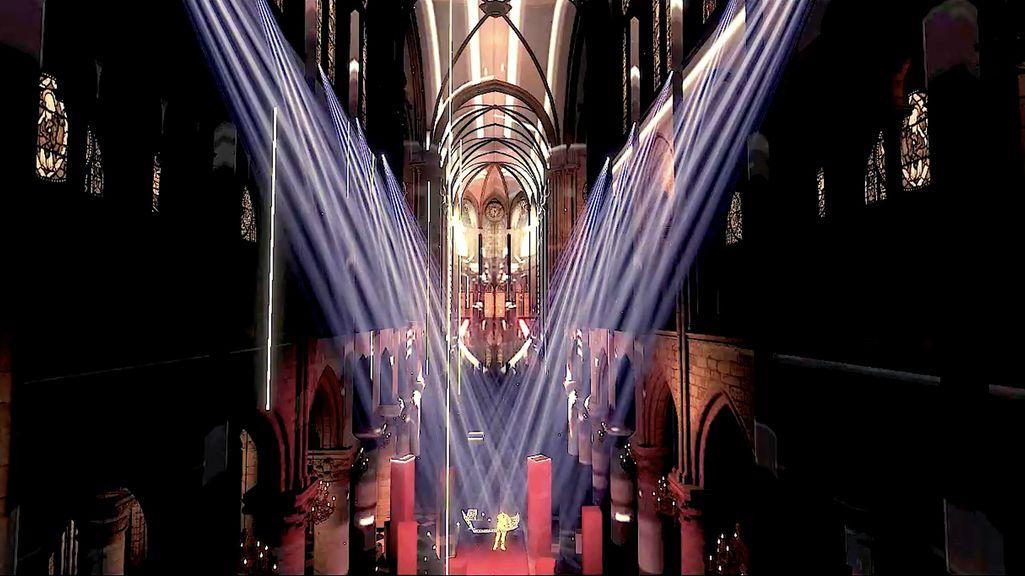 Lichteffekte im Kirchenraum