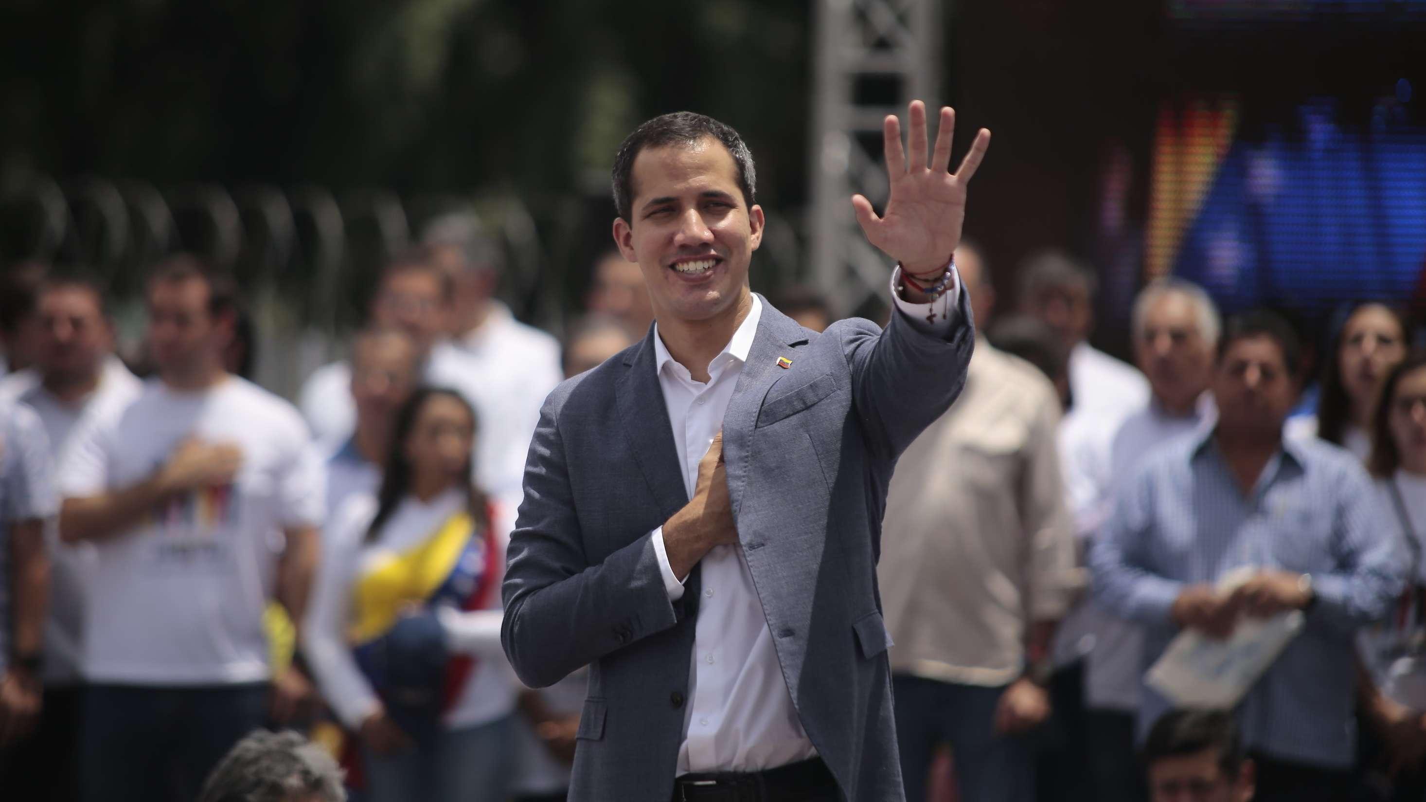 Juan Guaido bei einer Kundgebung in Caracas am 27.4.