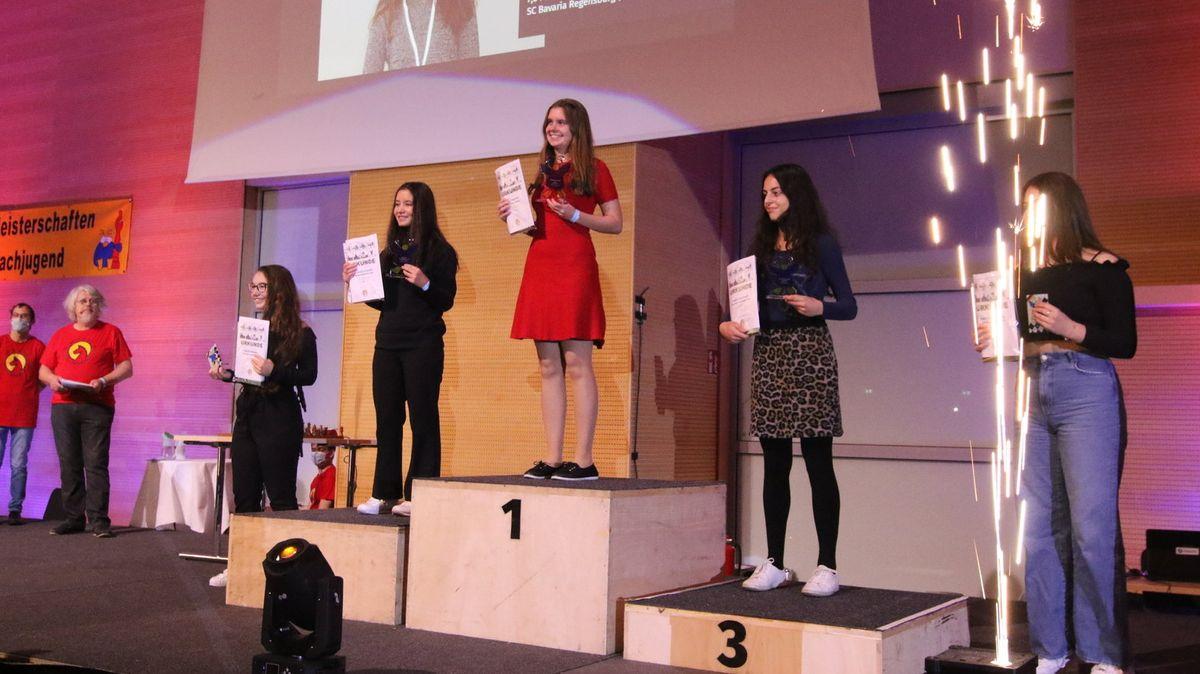 Siegerehrung bei der Deutschen Schachmeisterschaft