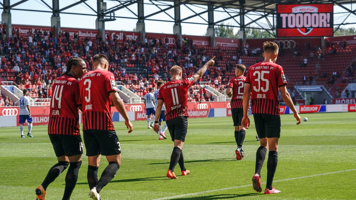 Ingolstadts Spieler nach dem 1:0