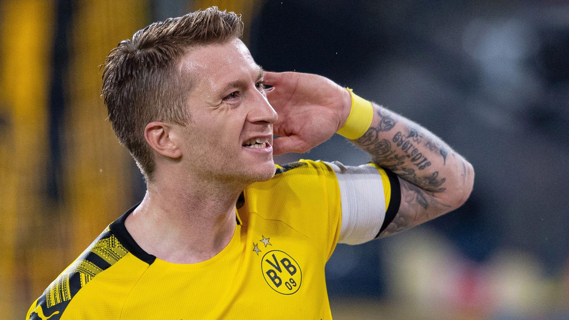 Dortmunds Torschütze Marco Reus nach seinem Treffer zum 1:0