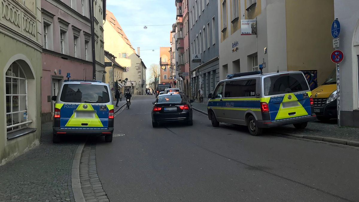 Großeinsatz der Polizei in Regensburg