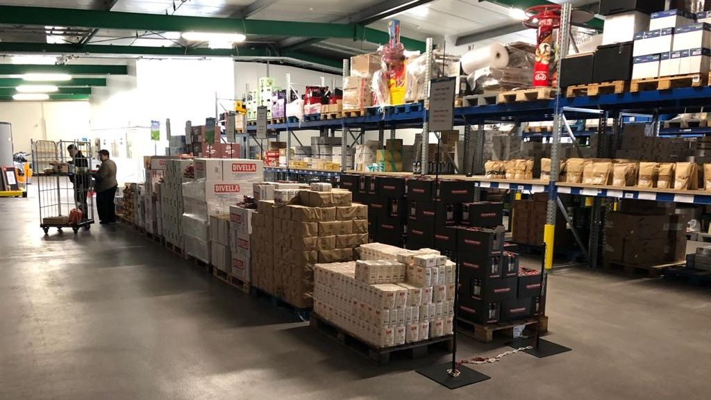 Lager des Lebensmittelgroßhändlers Mössle in Leipheim