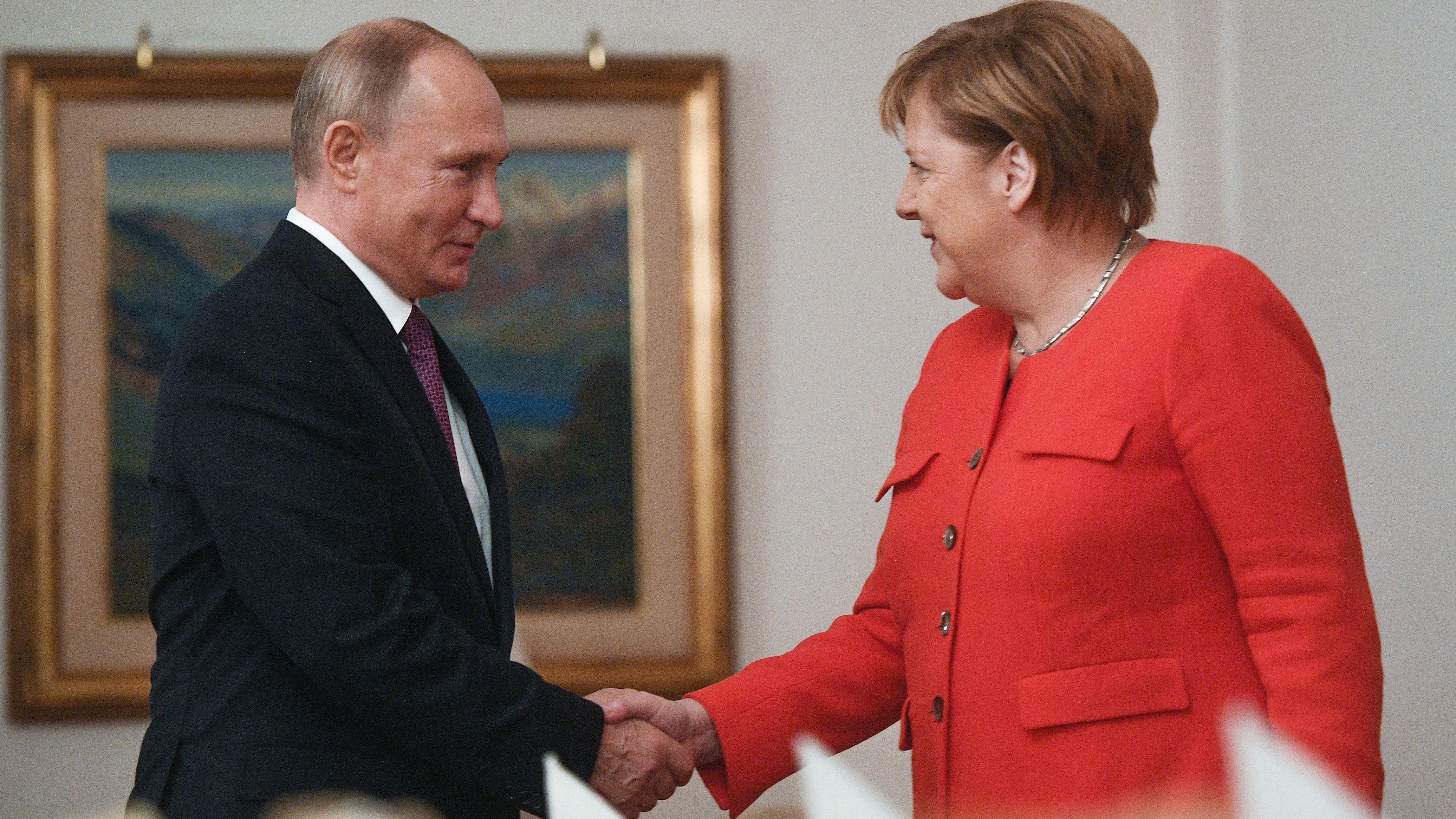 Merkel hofft auf Putins Einfluss im Nahen Osten