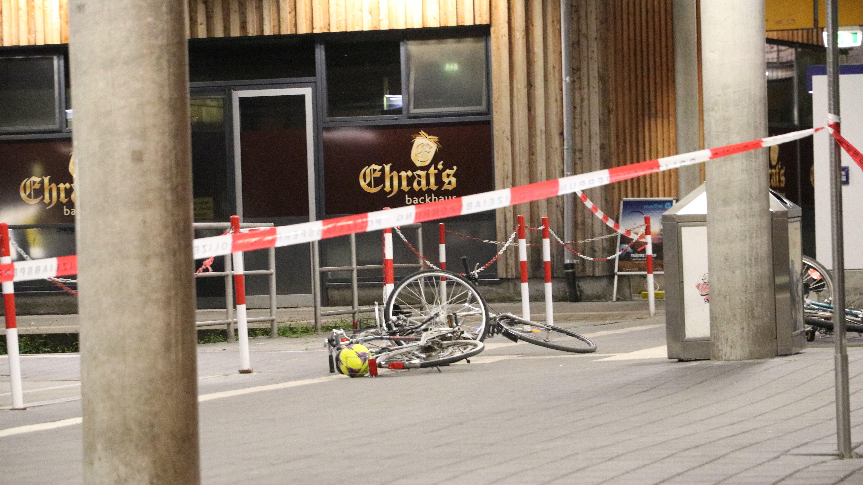 Der Bahnhof in Oberstdorf am Tag nach dem Messerangriff