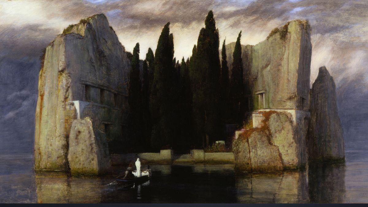 Gemälde von A. Böcklin:  Die Toteninsel