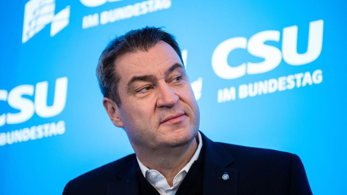 Markus Söder bei der CSU-Winterklausur 2020 in Seeon