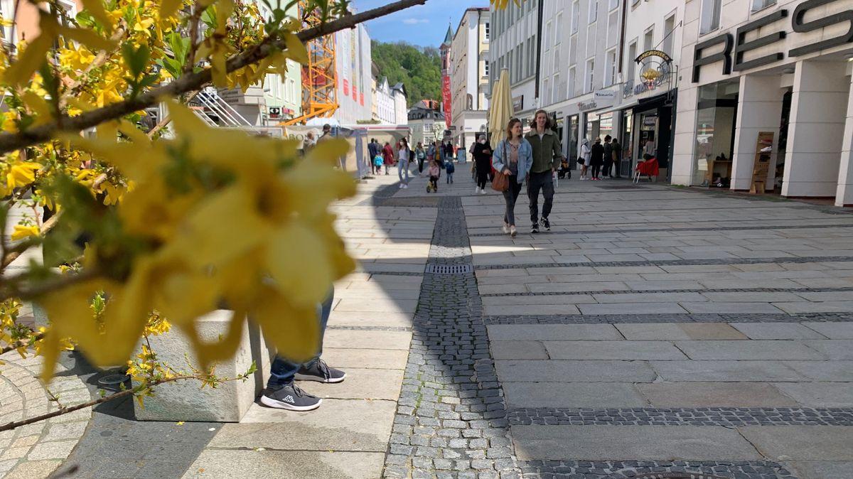Fußgängerzone in Passau