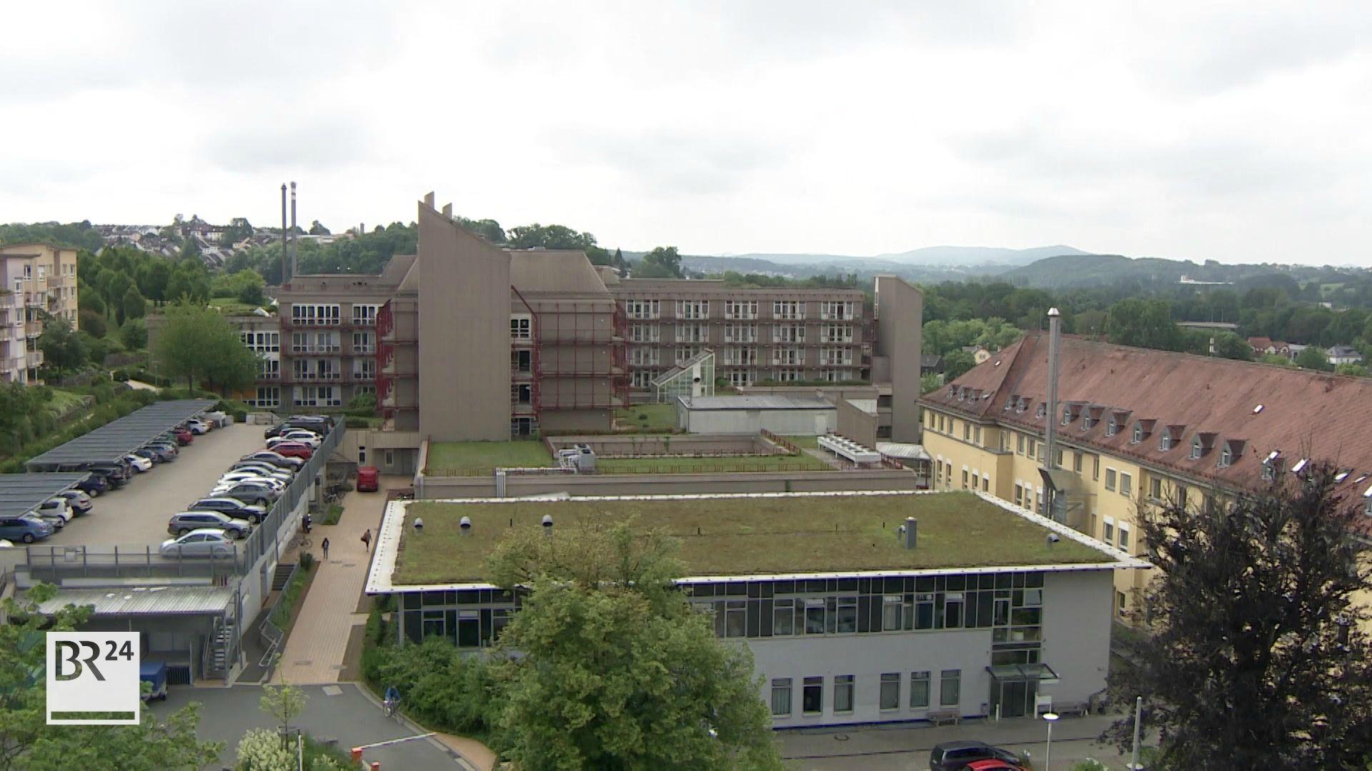 Klinikverbund Regiomed in Oberfranken - der Standort Coburg von oben