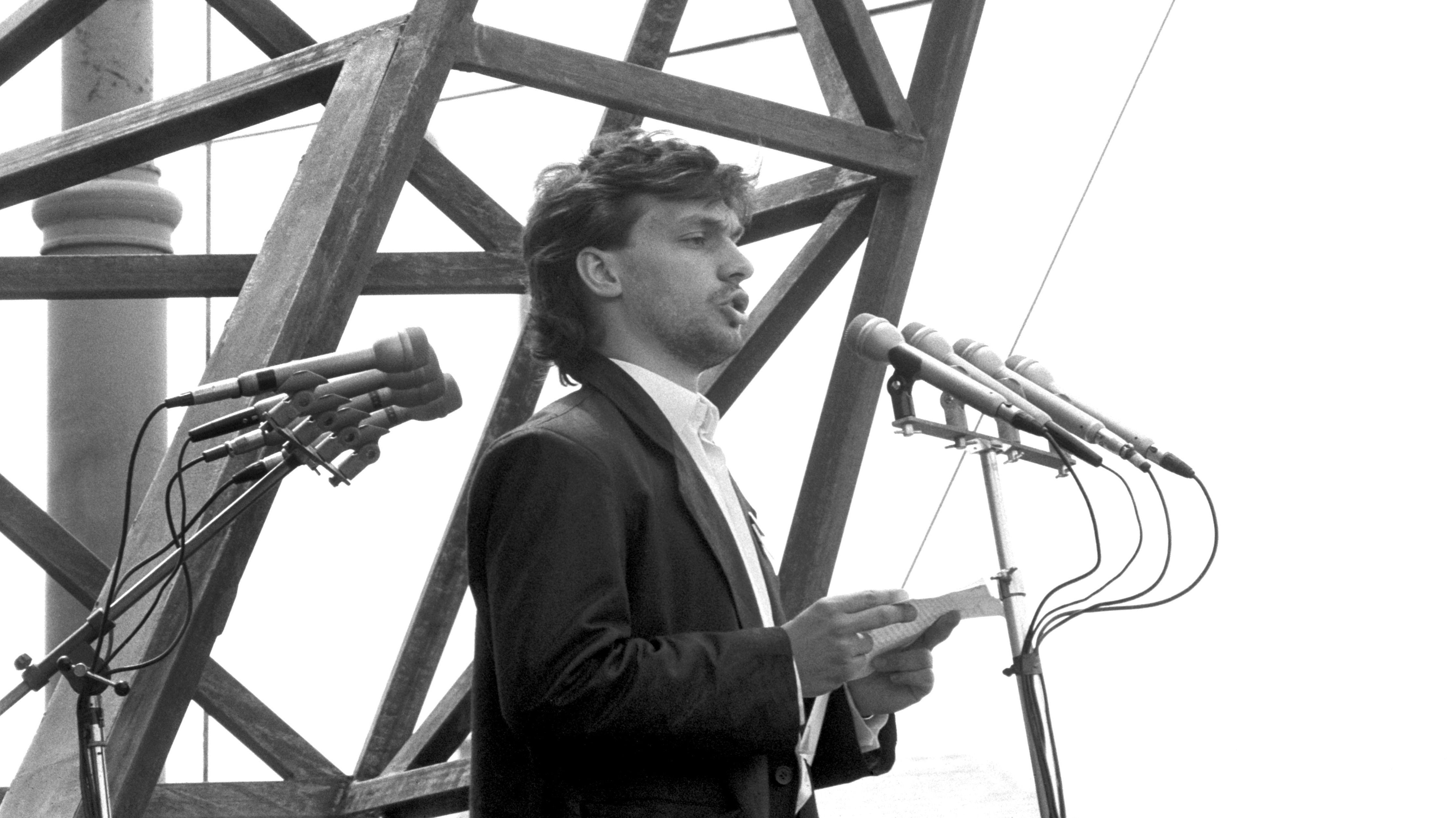 Der spätere ungarische Staatschef Viktor Orban (Archivbild vom Juni 1989)