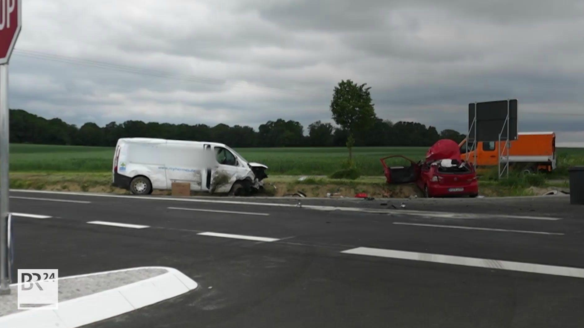 Schwerer Verkehrsunfall bei Prichsenstadt
