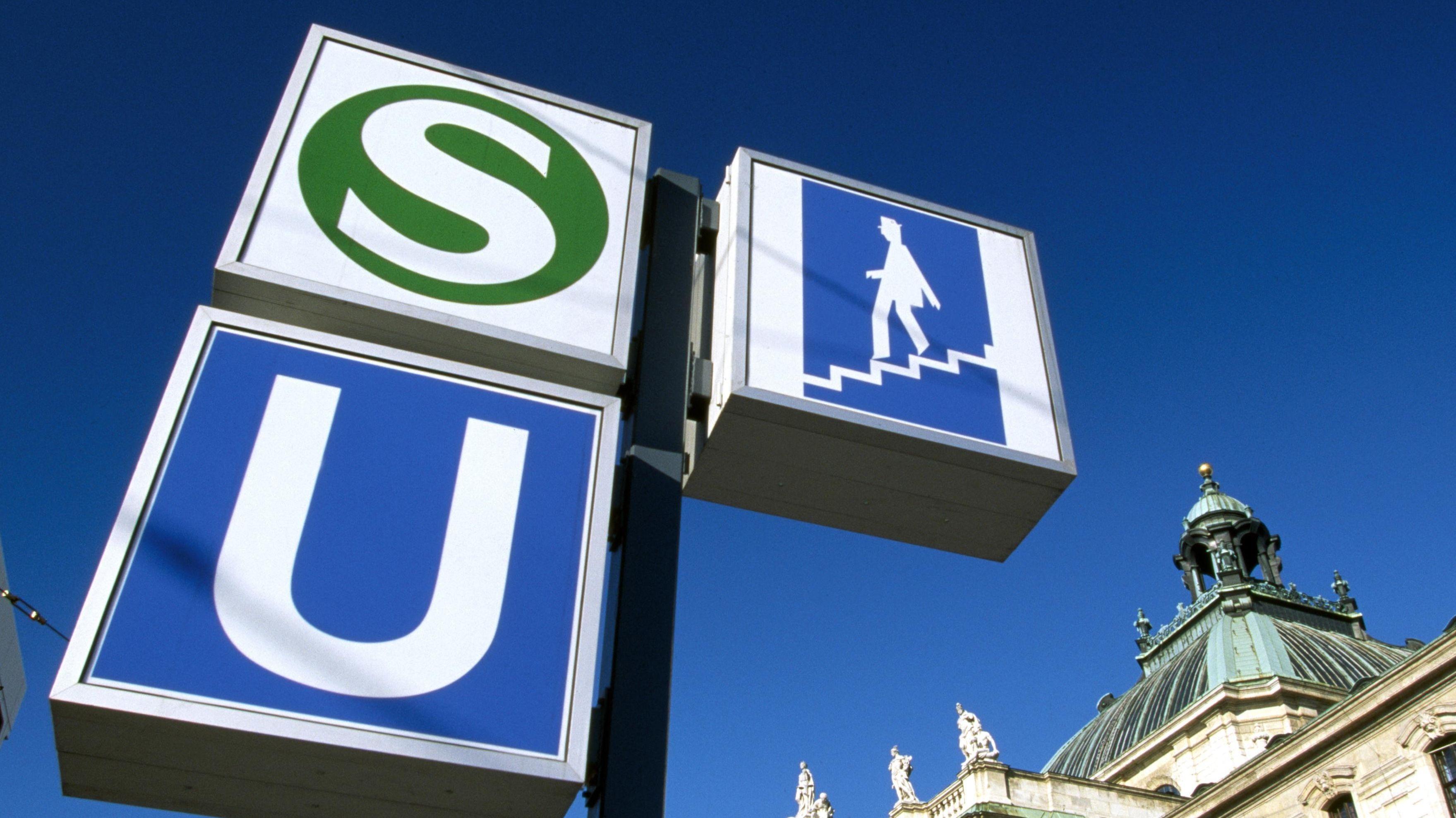 U- und S-Bahn-Schild in München