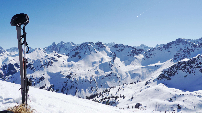 Aussicht vom Skigebiet: Oberstdorf Kleinwalsertal