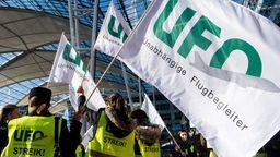 Flugbegleiter-Streik bei Lufthansa. | Bild:dpa-Bildfunk/Matthias Balk