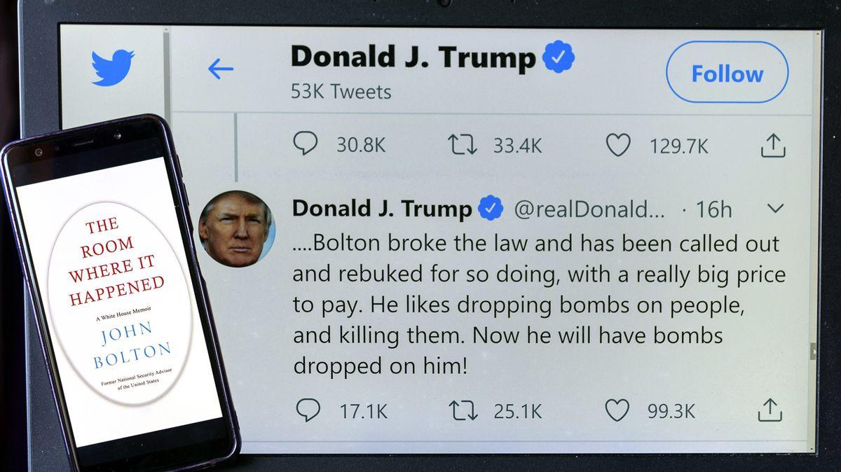 Twitter-Meldung des Präsidenten gegen Boltons Report