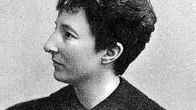 Porträt der deutschen Juristin, Schriftstellerin und Frauenrechtlerin Anita Augspurg (1857-1943).