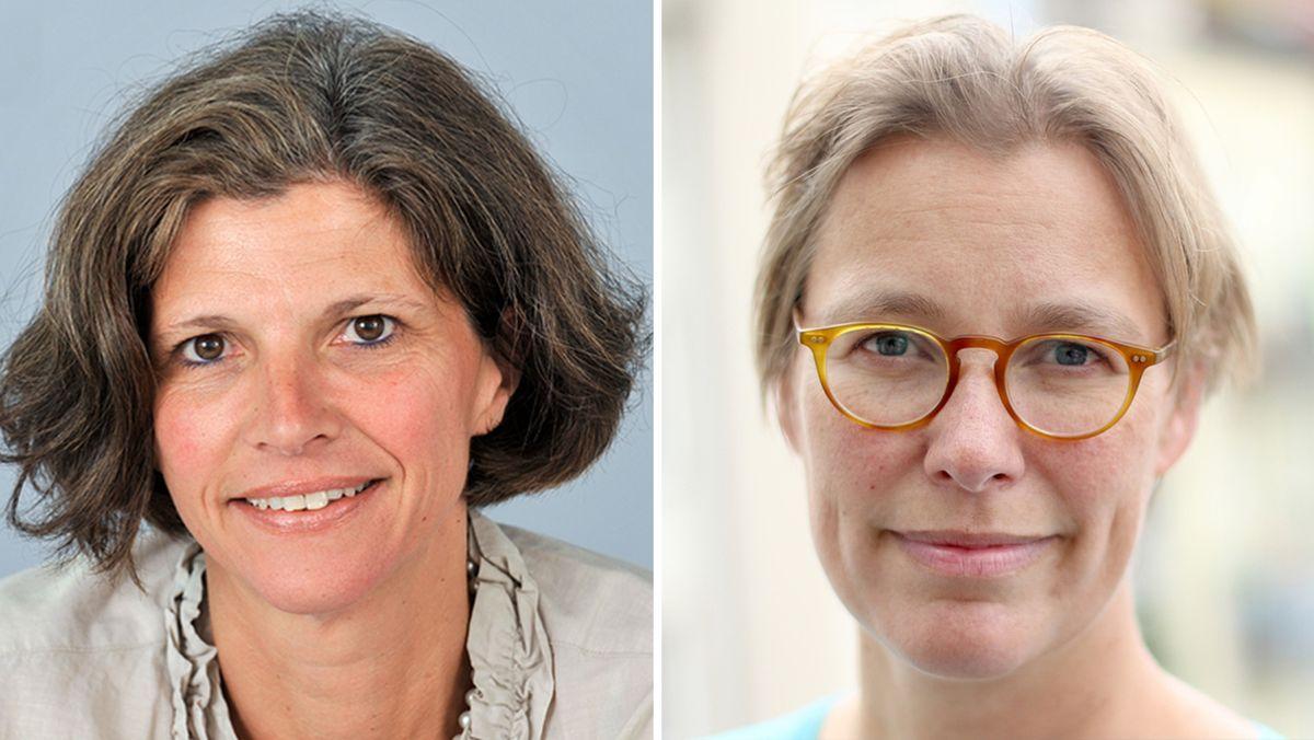 Jeanne Rubner (l) und Jeanne Turczynski (r) aus der BR-Wissenschaftsredaktion