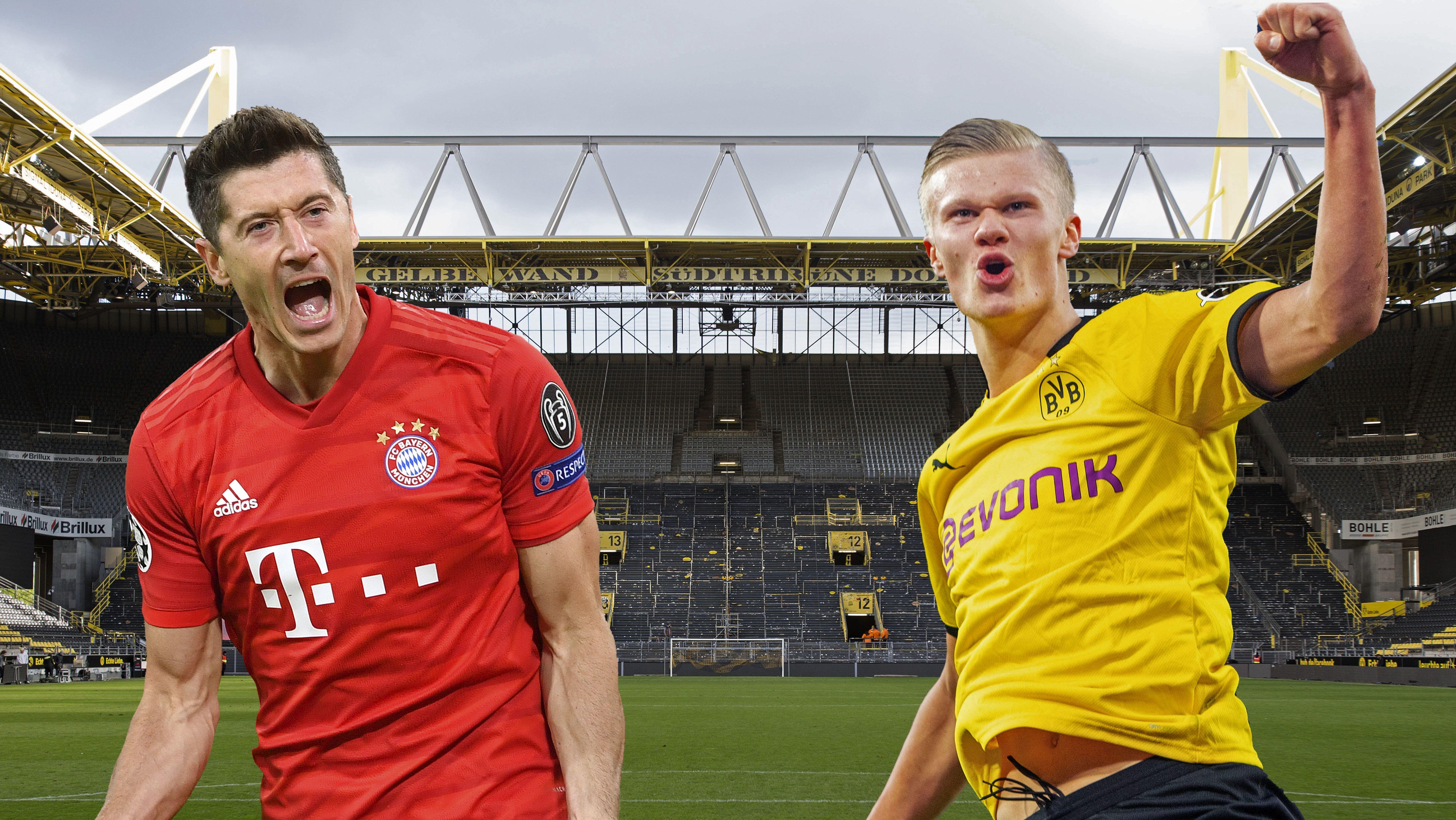 Robert Lewandowski (links) und Erling Haaland
