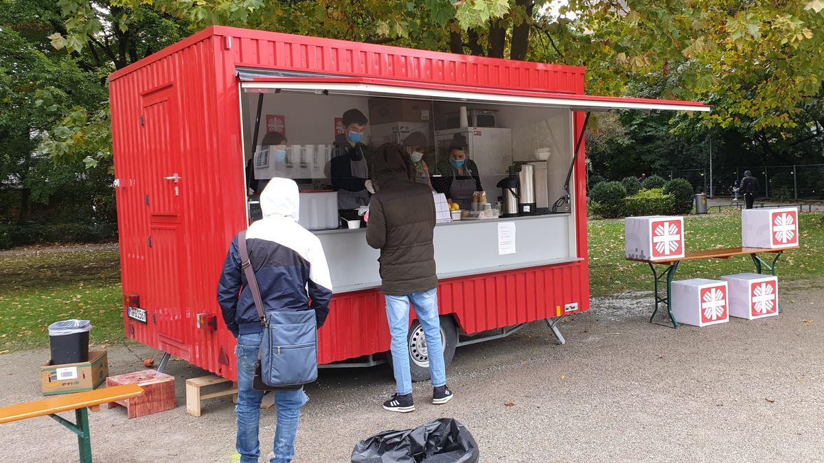 Foodtruck der Caritas in München