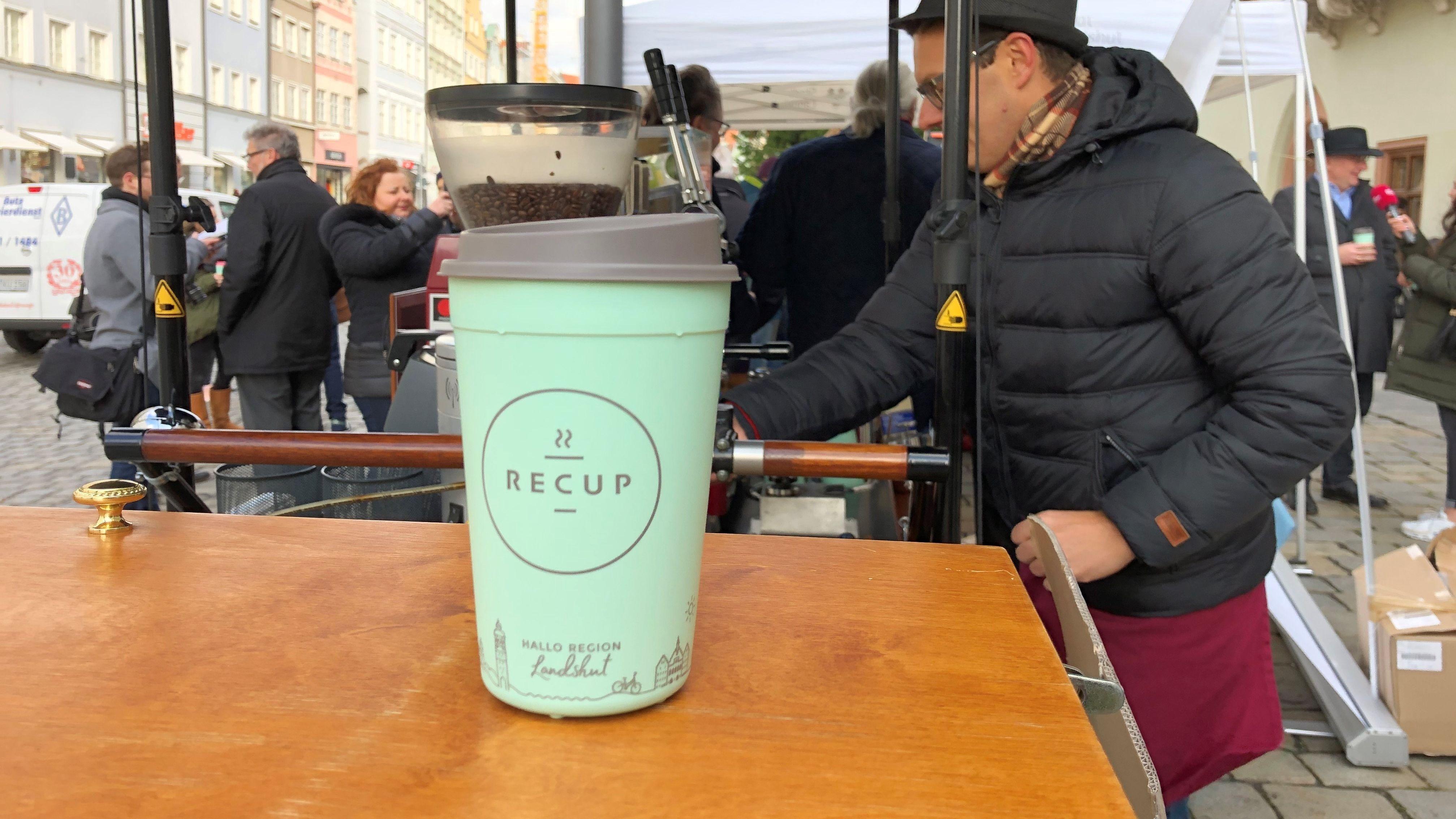 Wiederverwendbare Kaffee-Becher in Landshut eingeführt