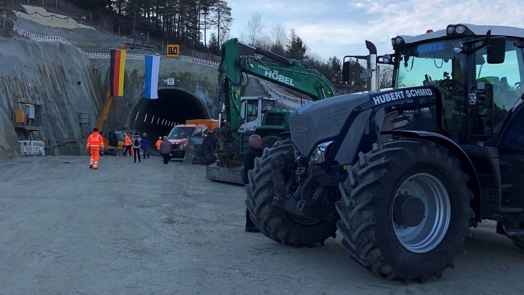 Tunnelbaustelle Bertoldshofen bei Marktoberdorf