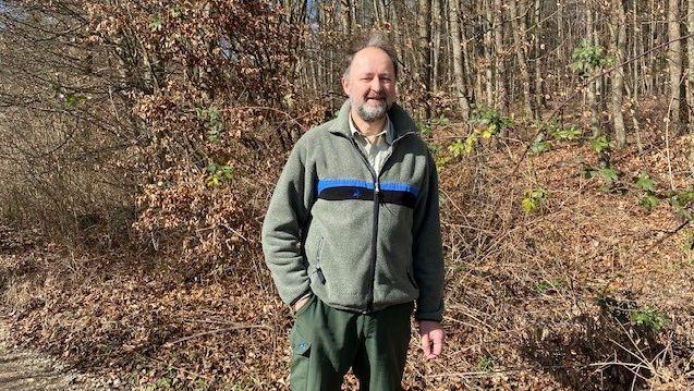 Forstdirektor Cornelius Bugl geht am liebsten im Frühjahr durch den Wald.