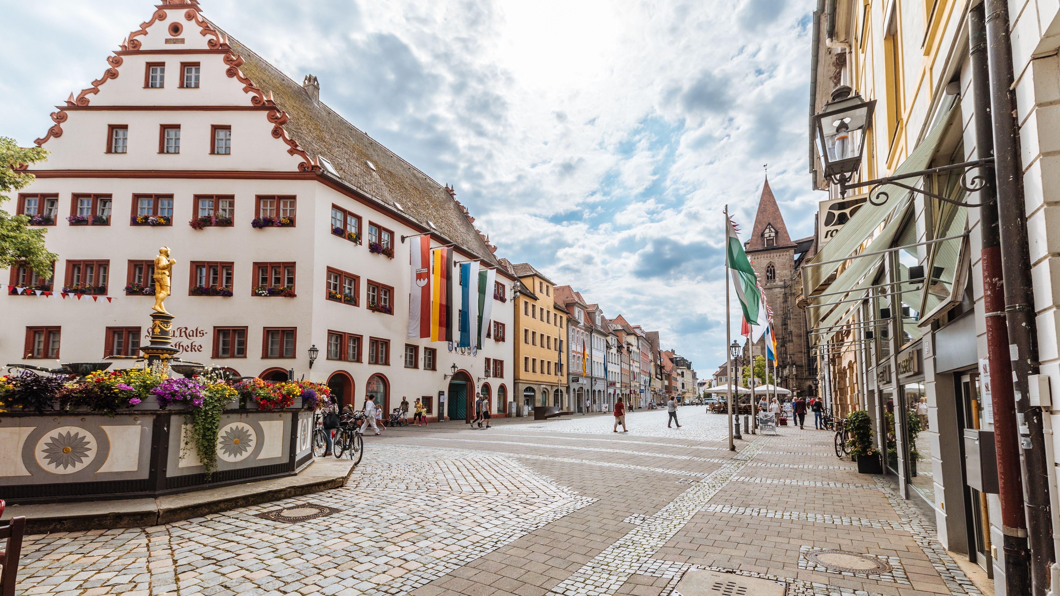 Das Rathaus in Ansbach