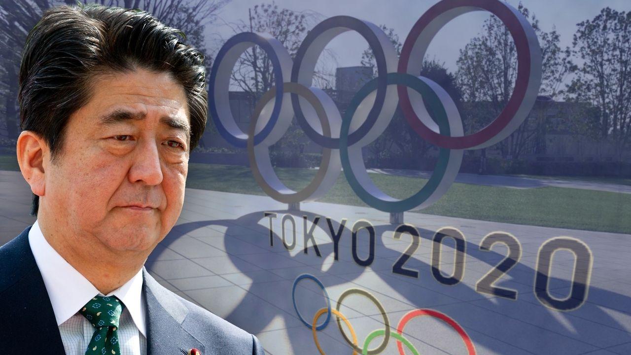 Olympische Spiele 2020 IOC und Japans Premier Shinzo Abe