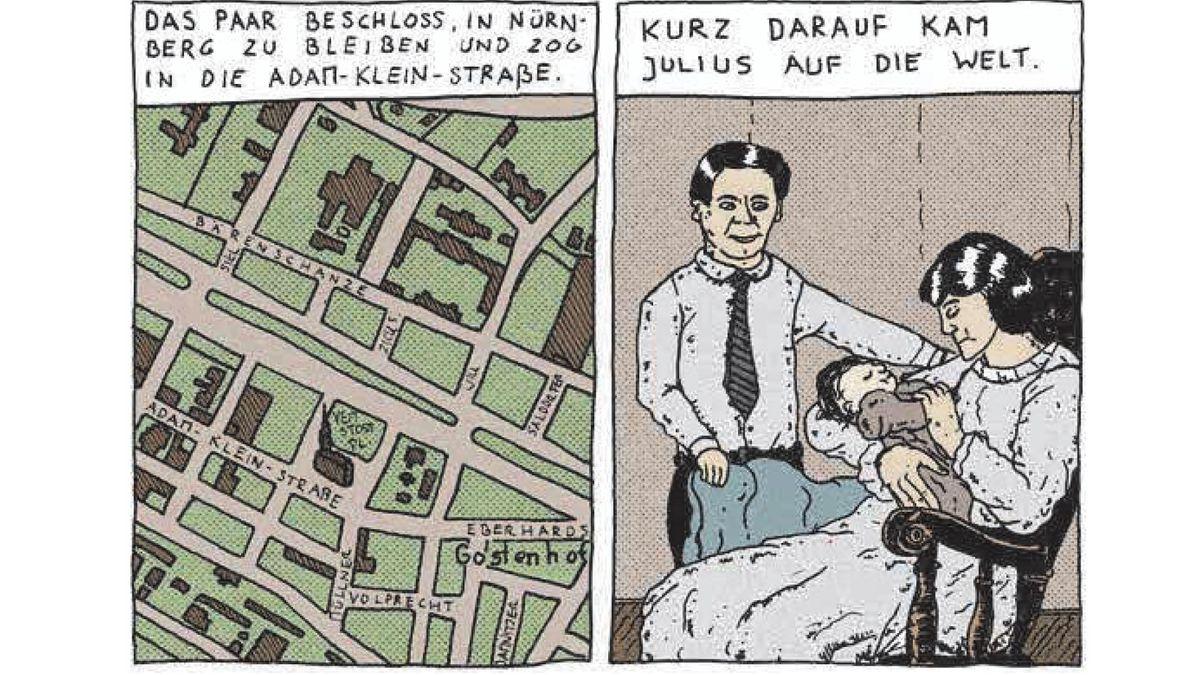 "Doppelseite des Comic ""Jesuran"""
