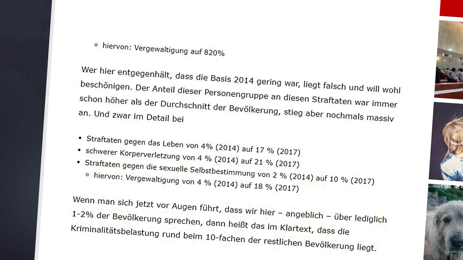 Behauptungen über die Kriminalitätsstatistik in Bayern