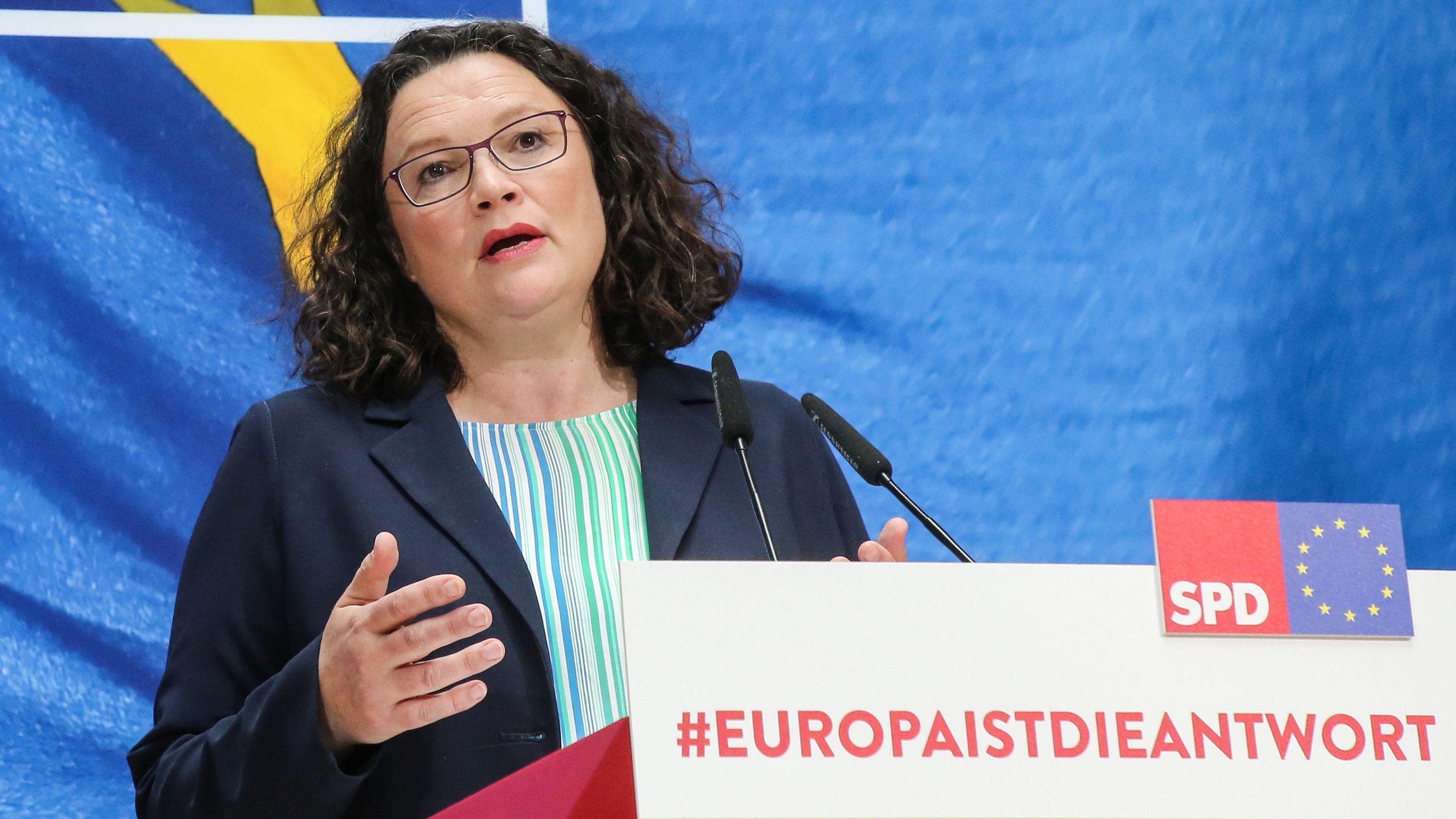 Andrea Nahles, SPD-Vorsitzende