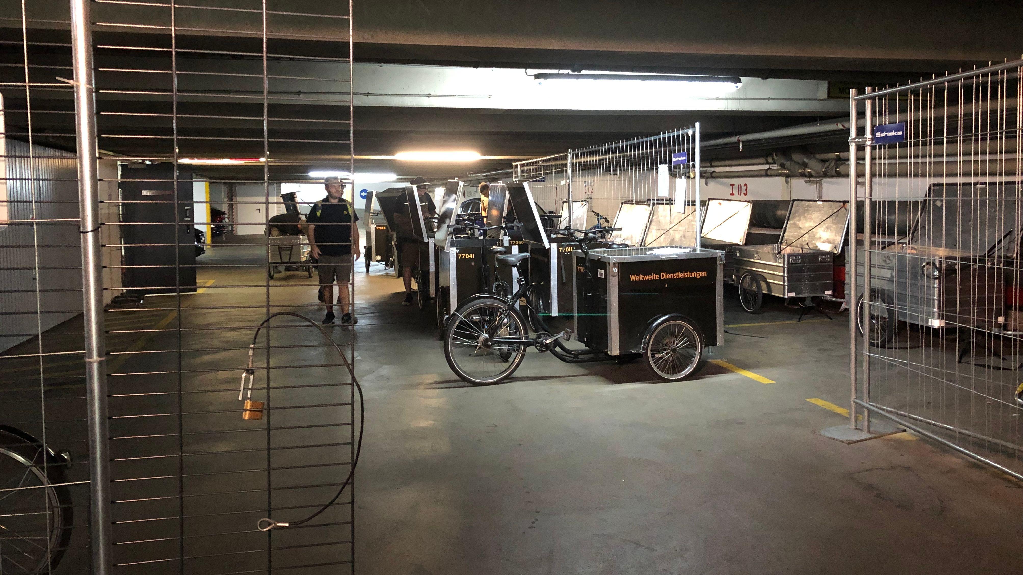 Auch konventionelle Lastenräder kommen bei UPS zum Einsatz