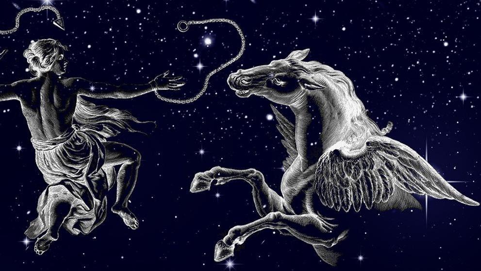 Sternbilder im Oktober