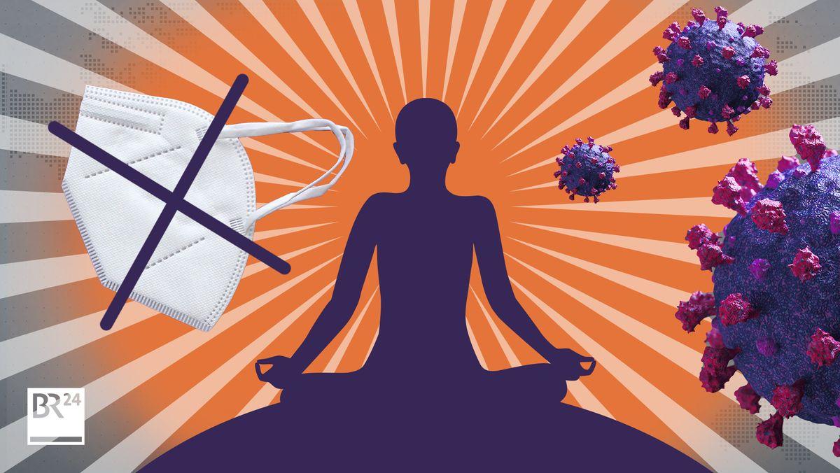 Mit gesunder Ernährung und guten Gedanken gegen das Virus - einige Yoga-Lehrer verbreiten in der Pandemie solche Ideen.