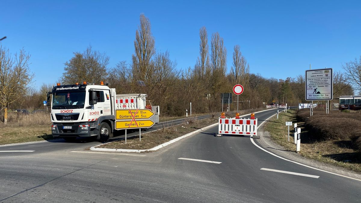 Die Straße zwischen Güntersleben und Veitshöchheim ist ab heute voll gesperrt.