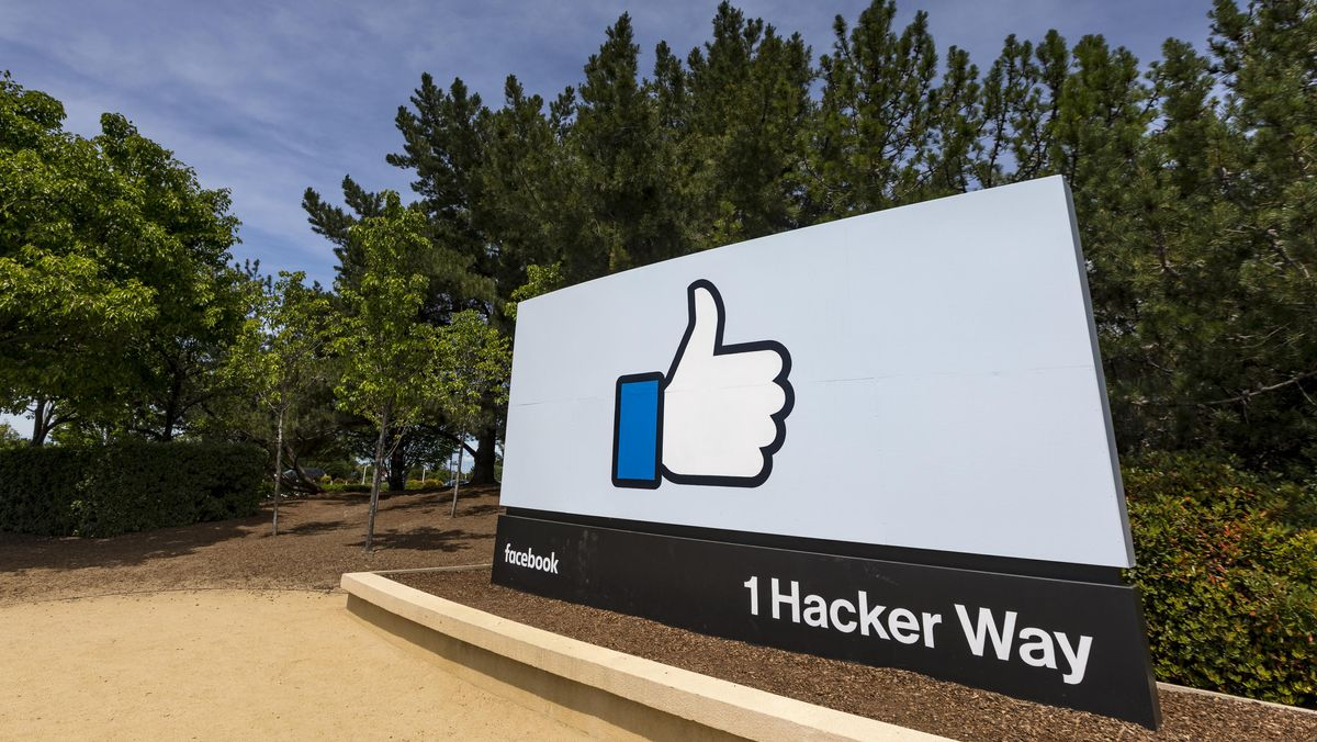 Der Facebook Inc. Firmensitz in Menlo Park, Kalifornien.