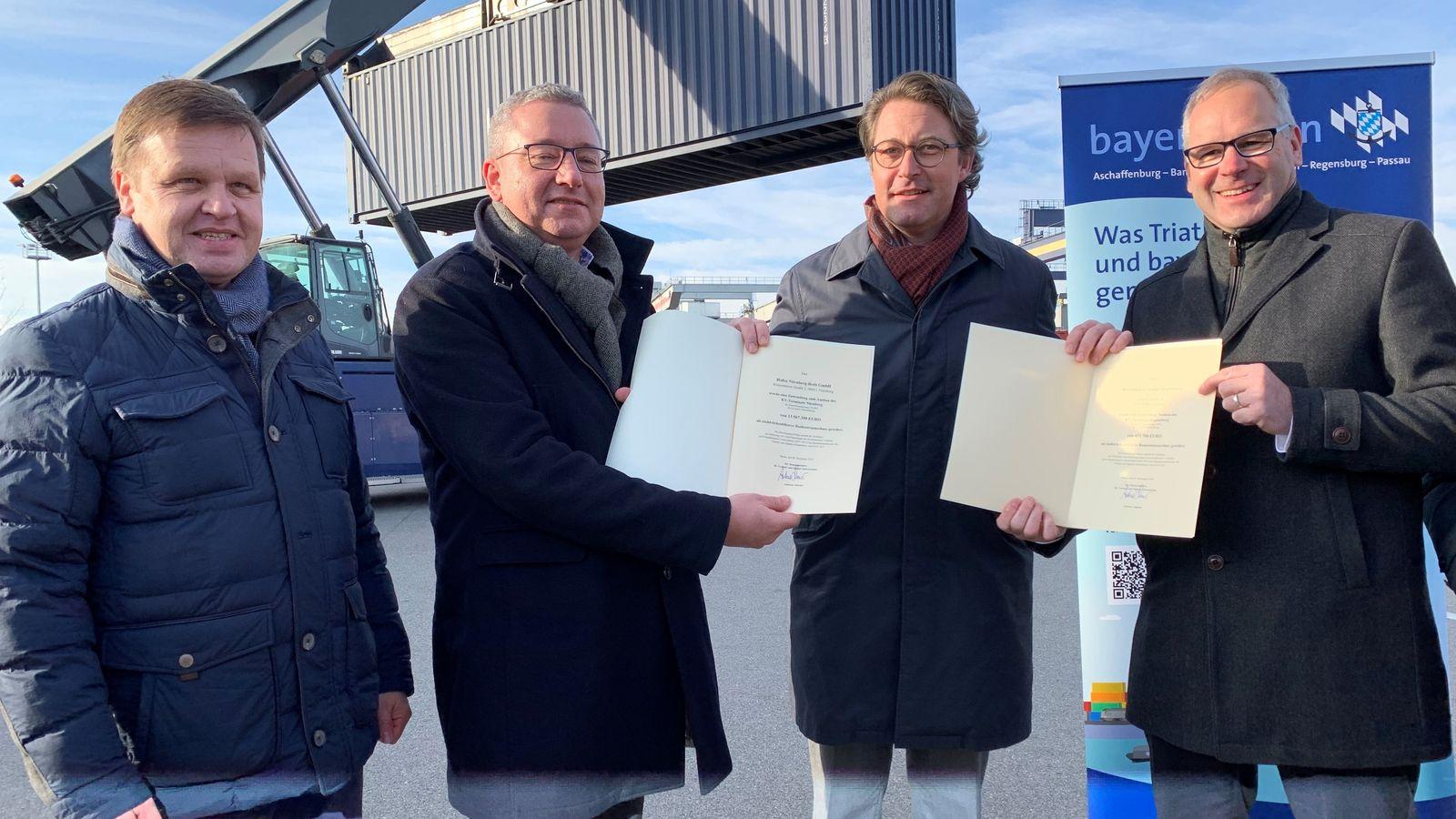 Bund gibt 14 Millionen Euro für Bayernhafen