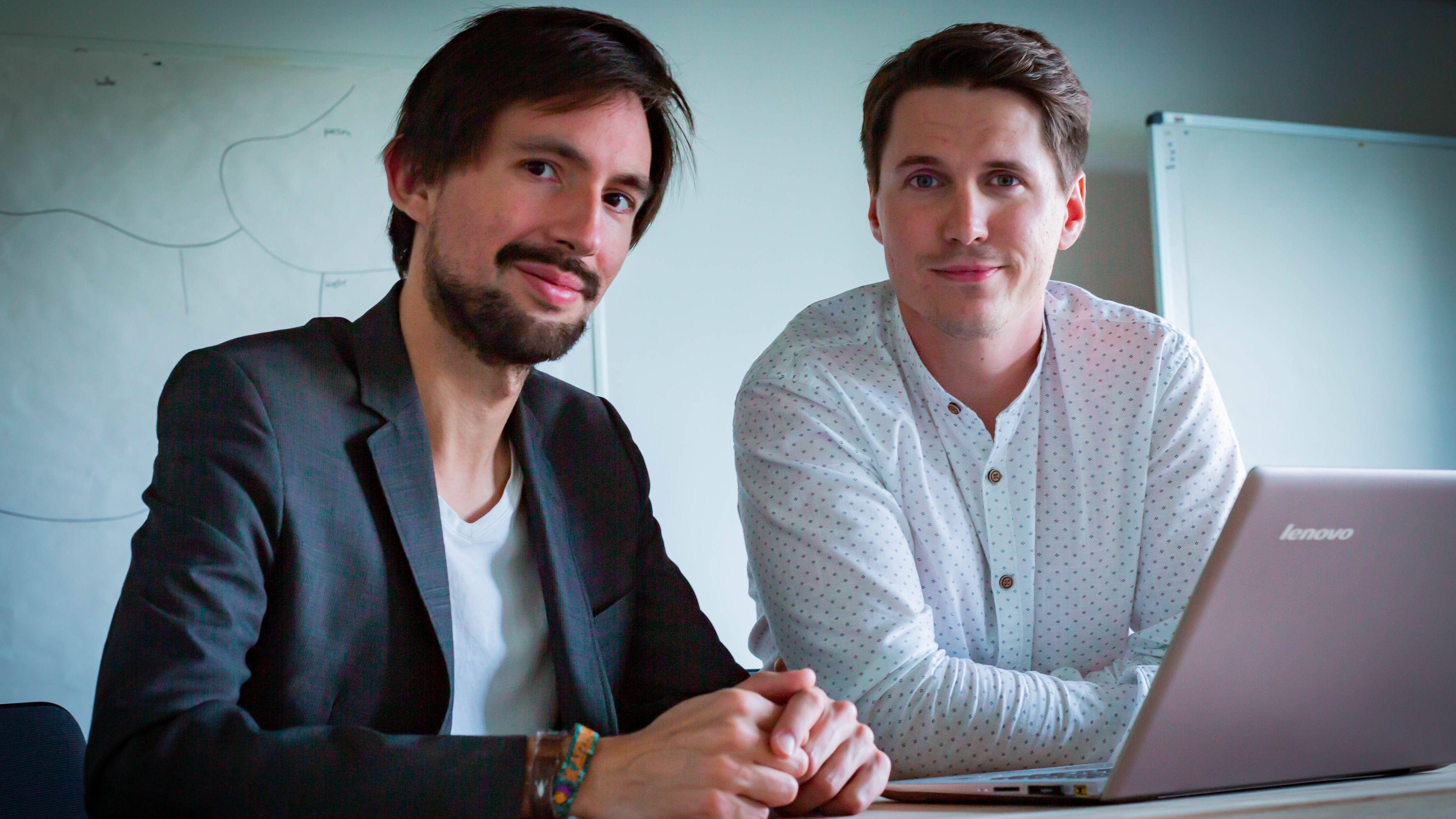 """Die beiden Macher von """"Buzzard"""" Dario Nassal und Felix Friedrich."""