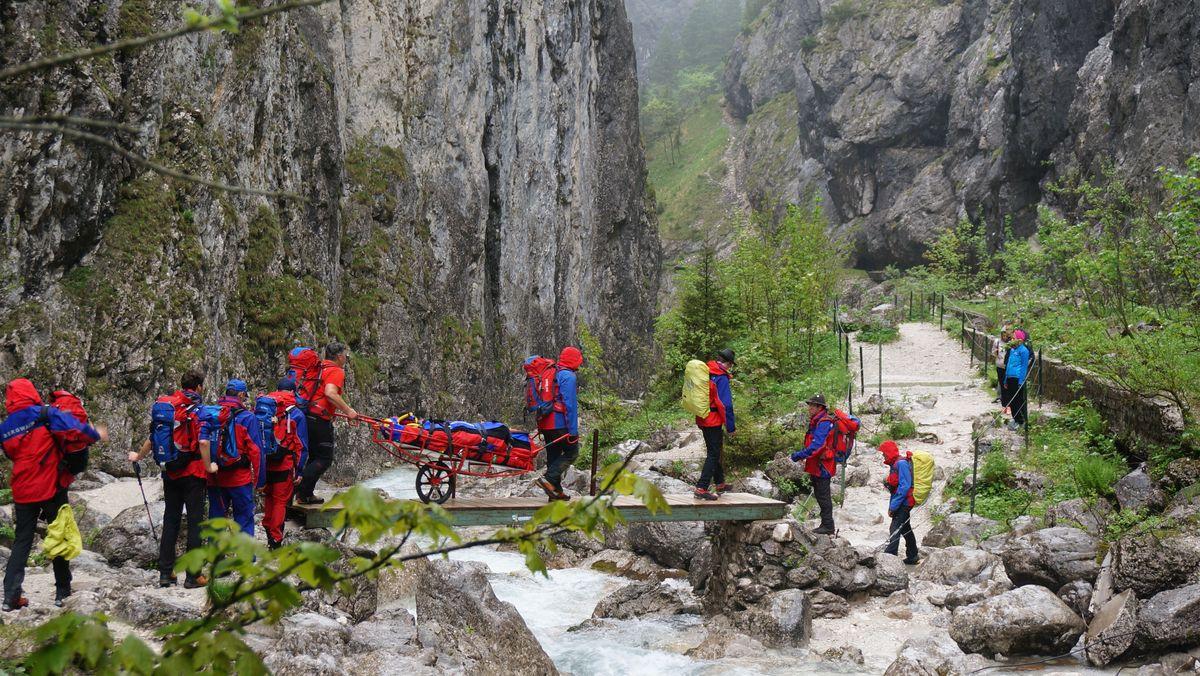 Einsatz der Bergwacht Grainau