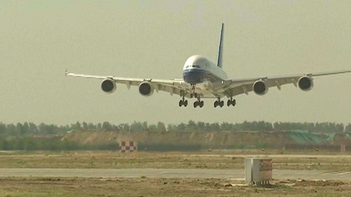 Testflug neuer Flughafen Peking