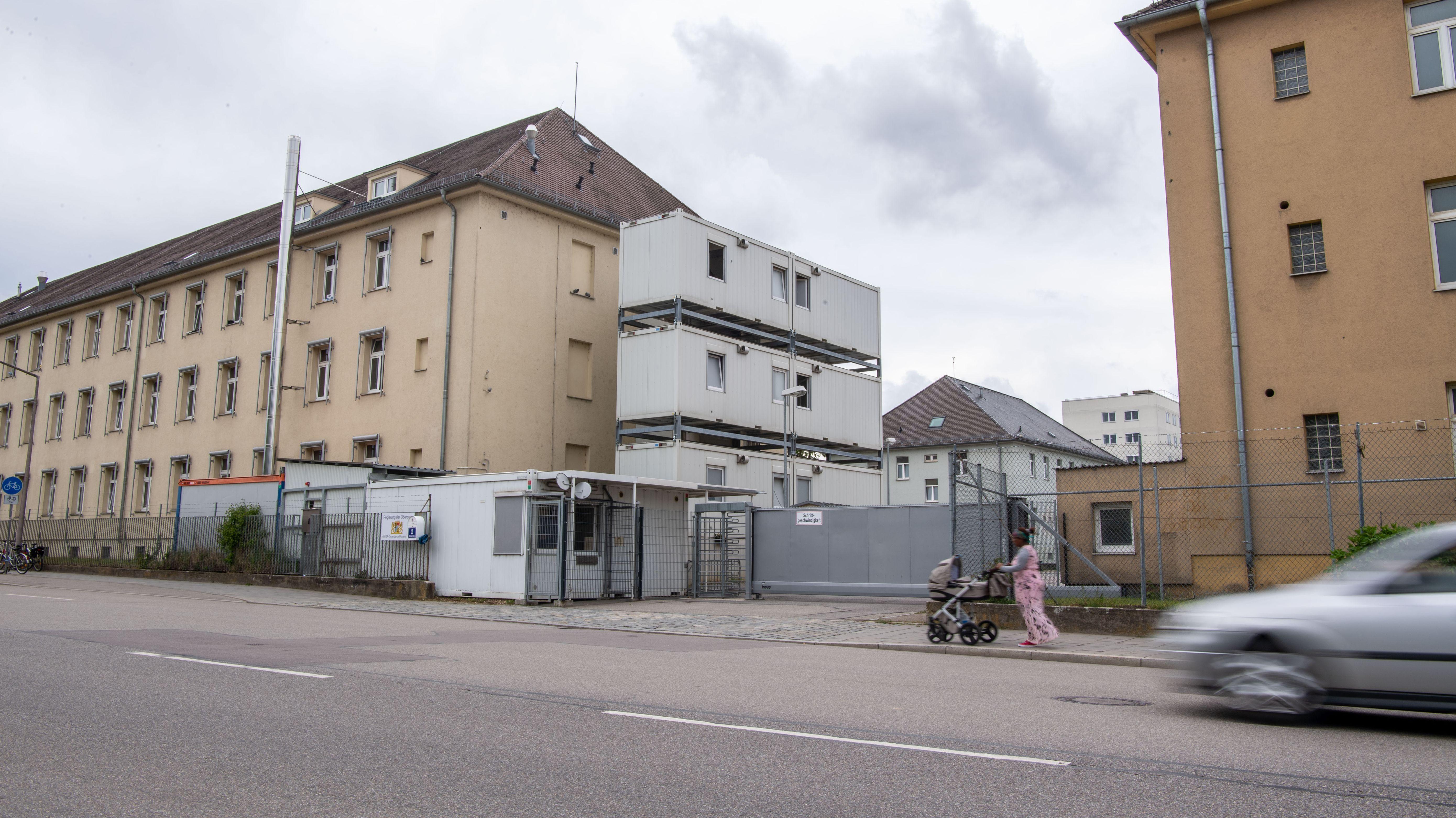 Regensburg: Blick auf das Ankerzentrum Zeißstraße.