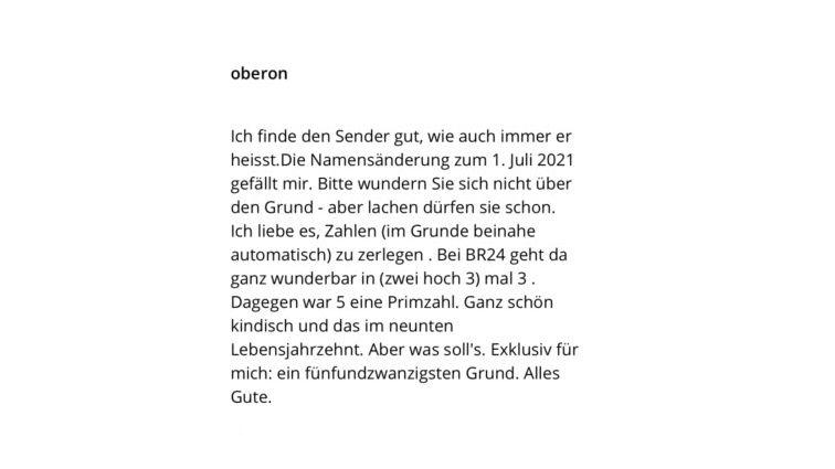 """User """"Oberon"""" teilt die 24 mit großer Freude - weil ihm das bei B5 nicht möglich war"""